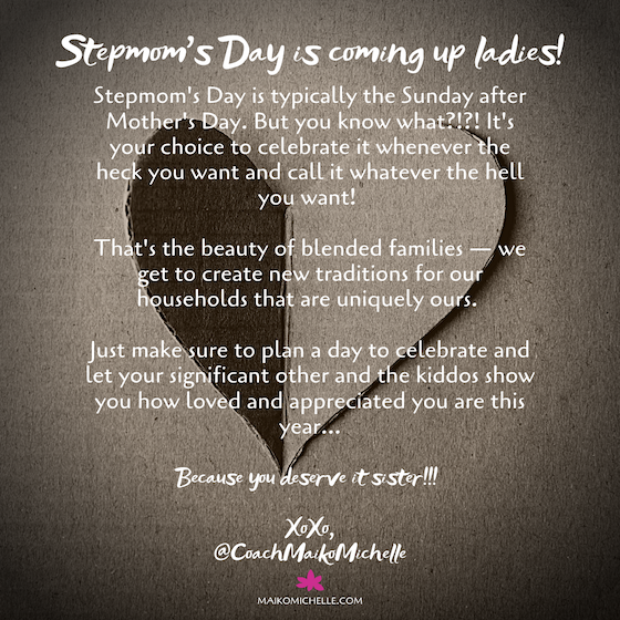 A note on Mother's Day for Stepmoms from Maiko