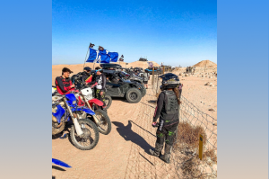 blended family dirt biking together 2